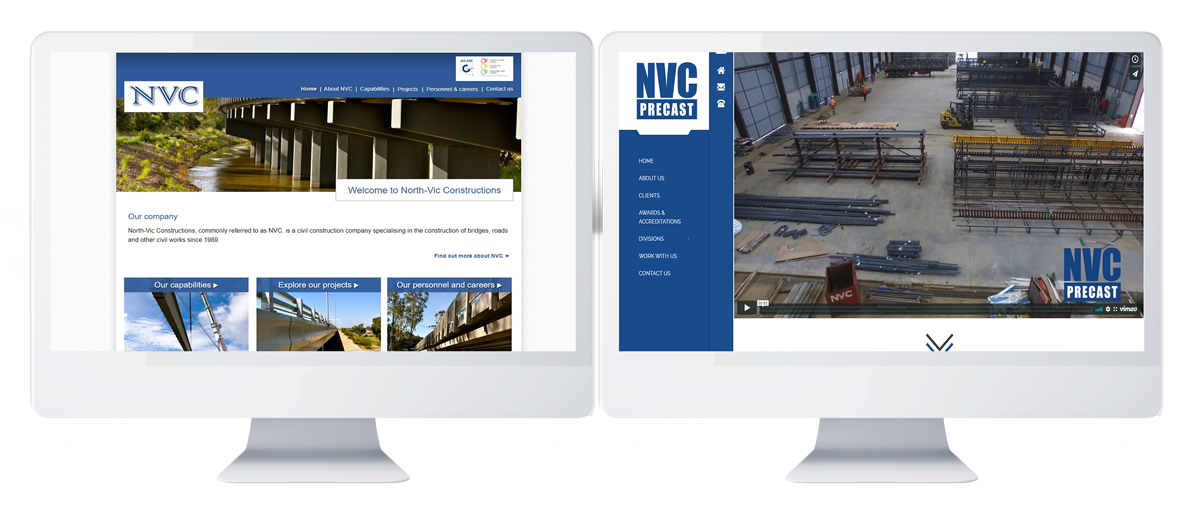 NVC-PRECAST WEBSITE REDESIGN