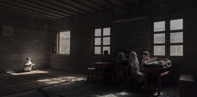 Foundation School, Chalt Pain , holding their pencil cases - Gilgit-Baltistan, northern Pakistan 05/05/2015 ph. Andrea Francolini